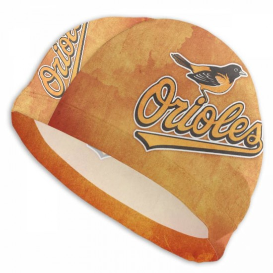Durable Baltimore Orioles swim cap #727099 Women Men Adults , Easy to Put On and Off
