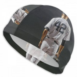 Durable MLB New York Yankees swim cap #727309 Women Men Adults , Easy to Put On and Off